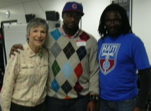Ellen with Brandon Hay, E.D., Black Daddies Club, & Nigel Barriffe, Green Party of Canada nominated candidate, Etobicoke North, Feb. 28, 2010
