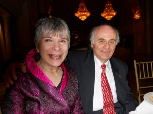 Co-emcee Ellen with Maestro Nurhan Arman, Sinfonia Toronto Green Gala, March 26, 2011