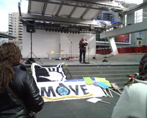UMOVE rally, Oct. 31, 2010, Yonge-Dundas Square, Toronto
