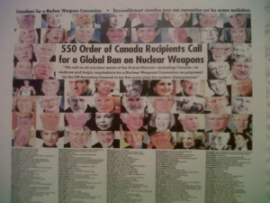 Order of Canada Disarmament Poster